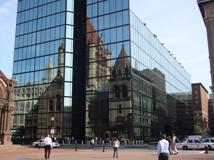 Reflection of Trinity Church