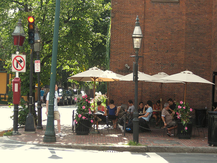 Beacon Hill Cafe on Charles St.