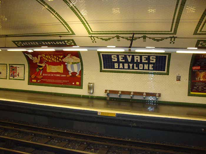 Paris, France Metro Sevres Babylone