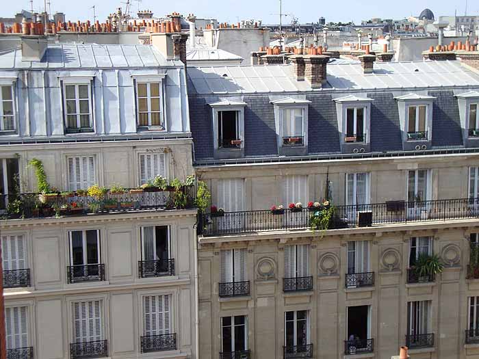 Paris, France rooftops