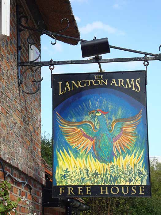 Pubs Signs, UK Langton Arms, Tarrant Monkton