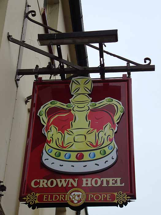 Pubs Signs, UK Crown Hotel, Poole