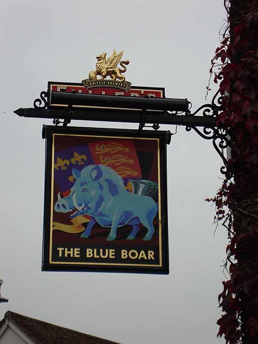 Pubs Signs, UK The Blue Boar, Poole