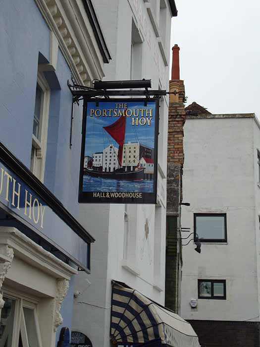 Pubs Signs, UK The Portsmouth Hoy, Poole