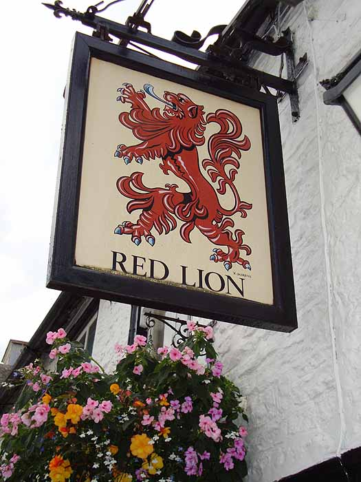 Pubs Signs, UK The Red Lion, Swanage