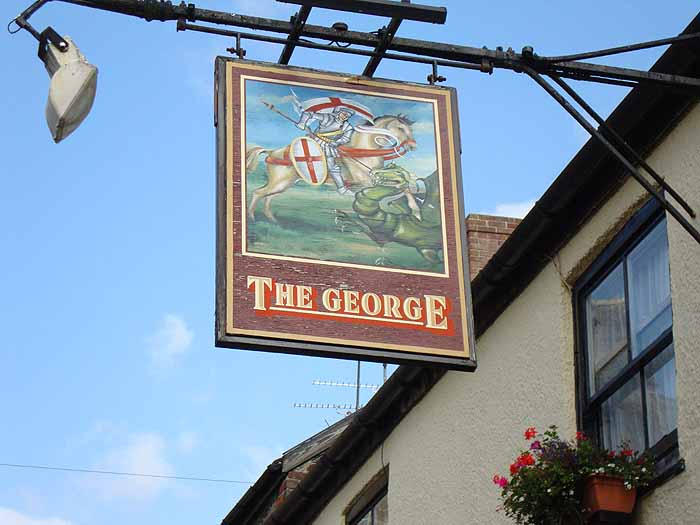 Pubs Signs, UK The George, Sherbourne
