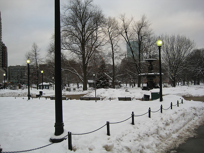 Winter Boston Common