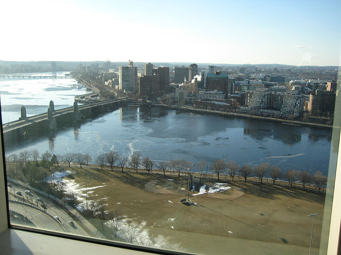 Winter Charles River from MGH