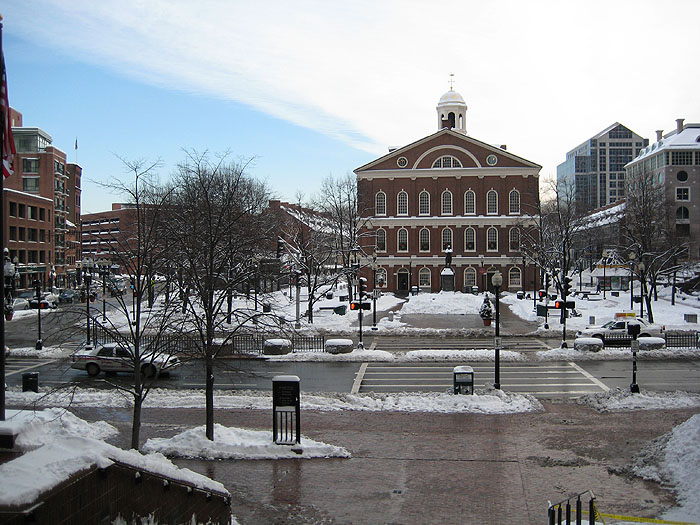 Winter Faneuil Hall
