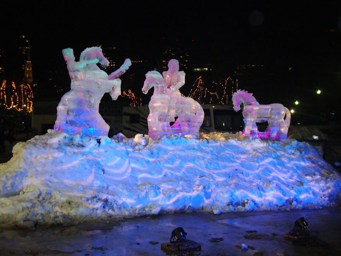 Ice sculptures, Boston's First Night, 2010