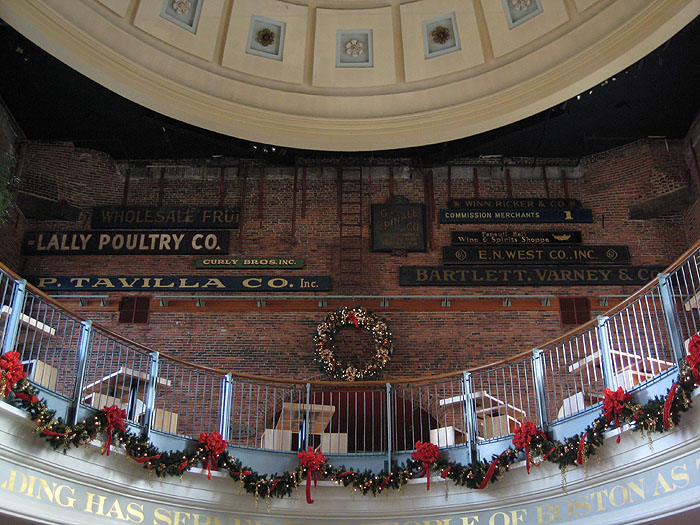 Winter Inside Quincy Market